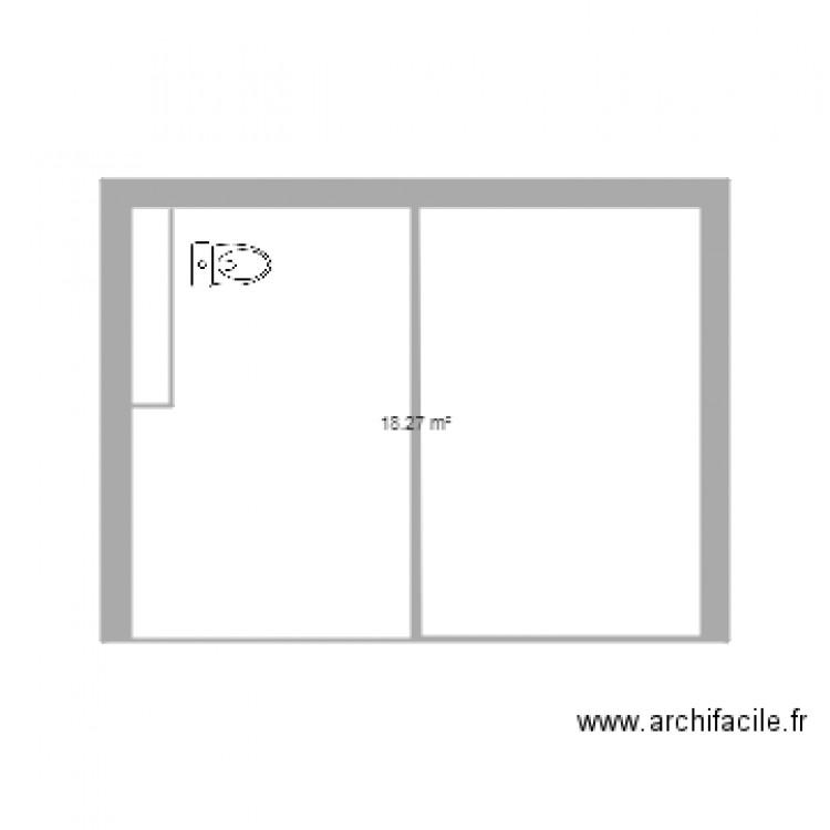 toilette pmr plan 1 pi ce 18 m2 dessin par phigarcin. Black Bedroom Furniture Sets. Home Design Ideas