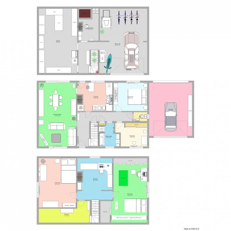 Ma maison plan 24 pi ces 386 m2 dessin par techno208 for Dessine ma maison gratuitement