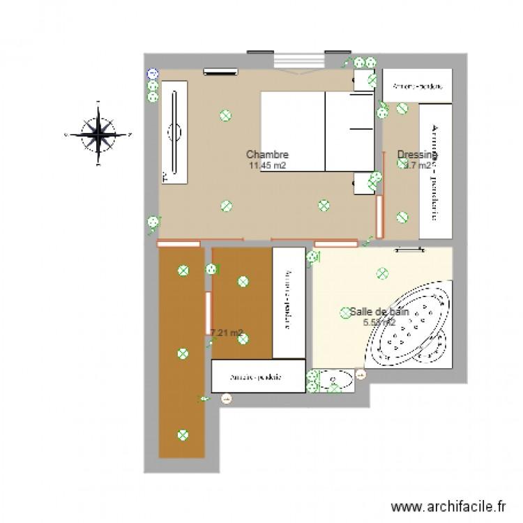 Am nagement grange plan 4 pi ces 28 m2 dessin par leanne - Amenagement de grange ...