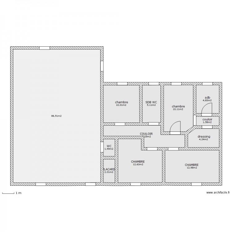 plan maison 160 m2 plain pied ac66 montrealeast. Black Bedroom Furniture Sets. Home Design Ideas