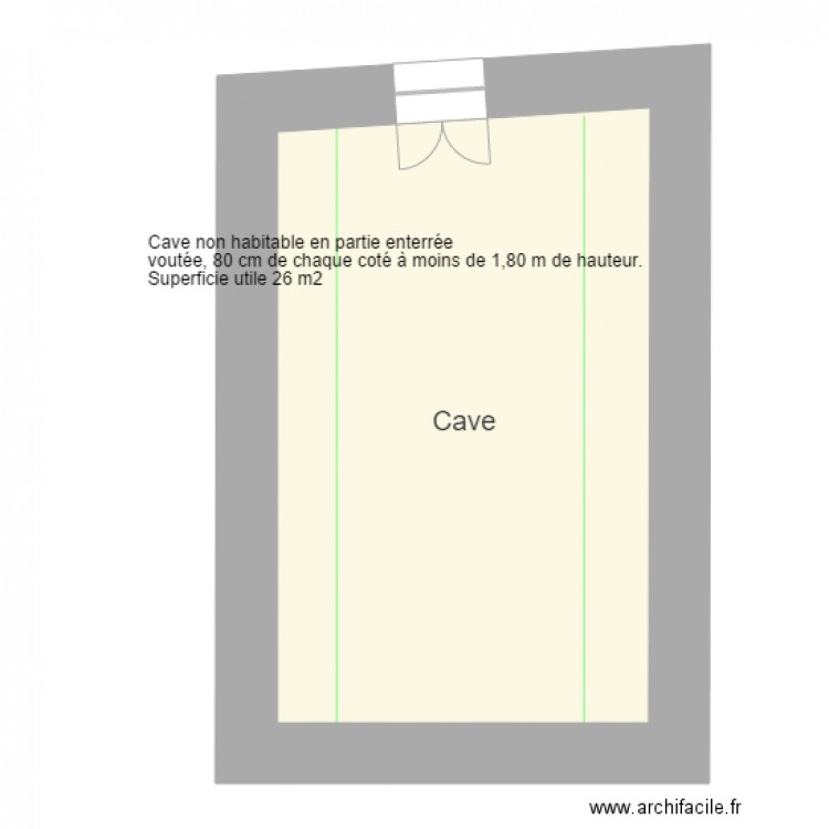 Cave Plan 1 Pi Ce 39 M2 Dessin Par S07340