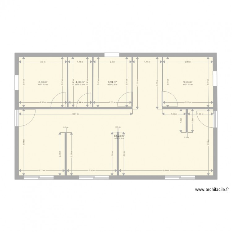 mon plan plan 5 pi ces 80 m2 dessin par ismail jer