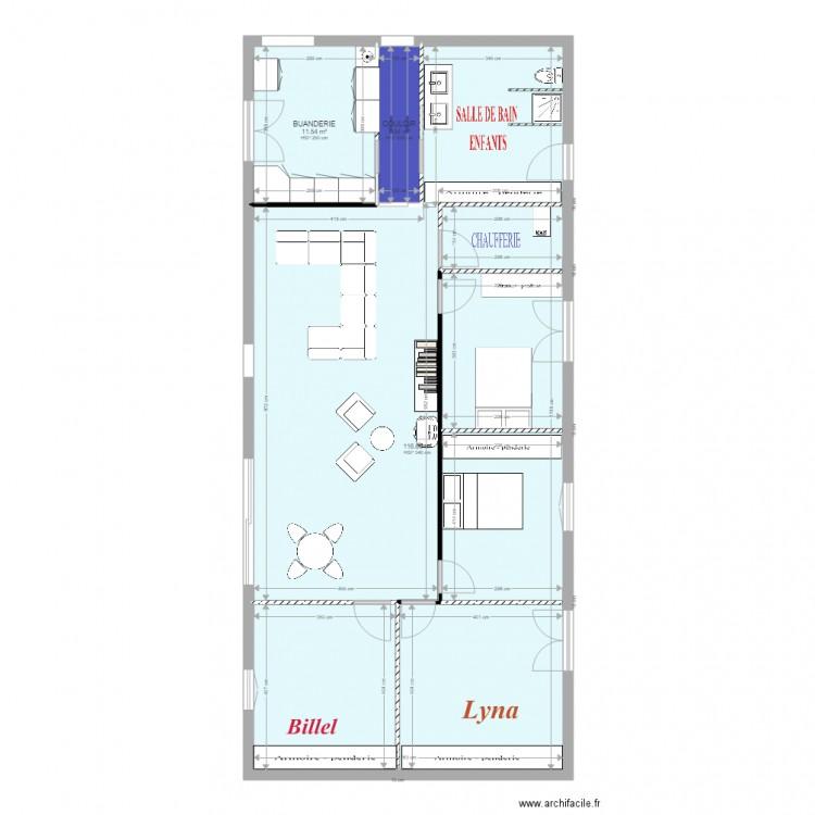 plan maison plan 3 pi ces 132 m2 dessin par assab. Black Bedroom Furniture Sets. Home Design Ideas