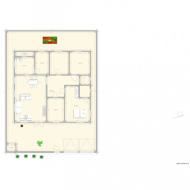 F5 plan maison plan 8 pi ces 349 m2 dessin par yombie for Plan de maison f5