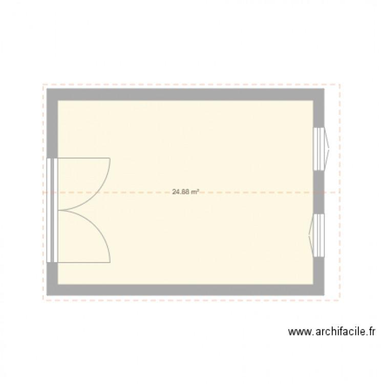 mon garage plan 1 pi ce 25 m2 dessin par verik1. Black Bedroom Furniture Sets. Home Design Ideas