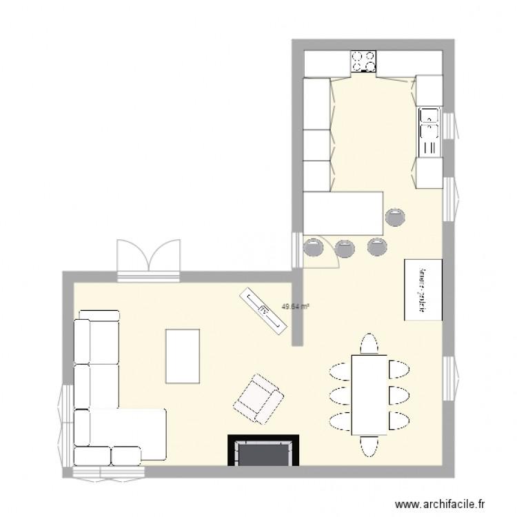 Awesome plan cuisine semi ouverte pictures joshkrajcik for Cuisine ouverte sur salon 50 m2