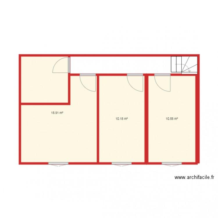 Maison Achat Plan Plan 3 Pi Ces 40 M2 Dessin Par Kf2a