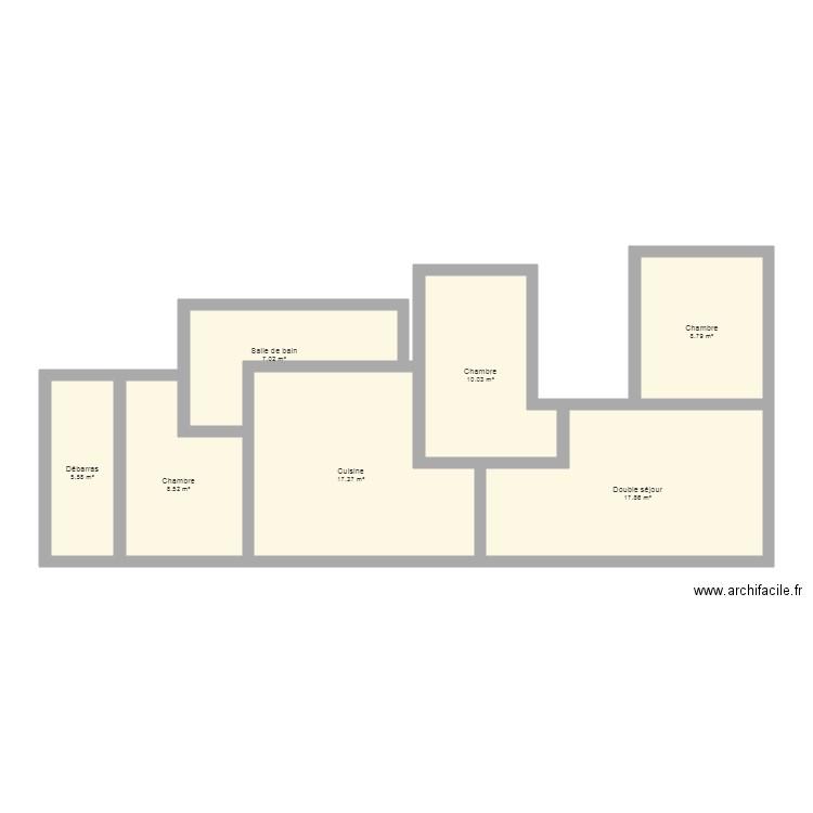 Maison Original Plan 7 Pieces 75 M2 Dessine Par Mwillaert