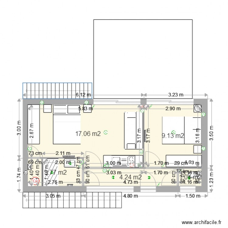am nagement garage plan 5 pi ces 35 m2 dessin par tytain. Black Bedroom Furniture Sets. Home Design Ideas