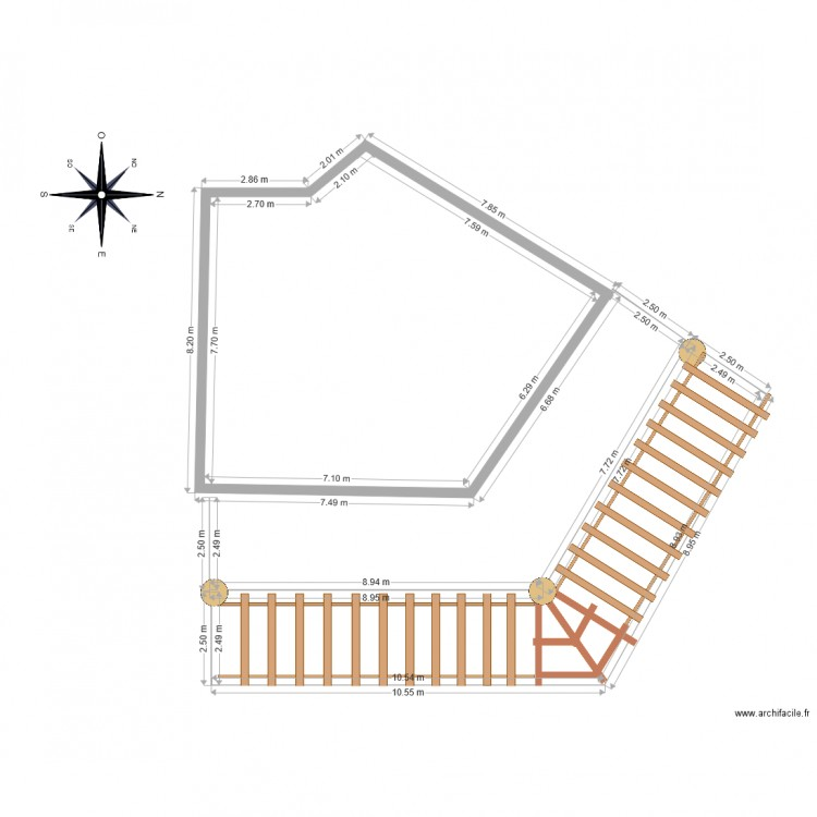 Plan De Pergola Latest Pergola Plans With Plan De Pergola Top Plan