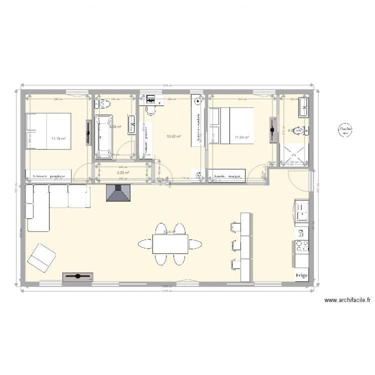 maison phenix perso avec meubles 5 coha 2 plan 7 pieces With amazing dessiner plan de maison 10 evier 1 bac avec meuble
