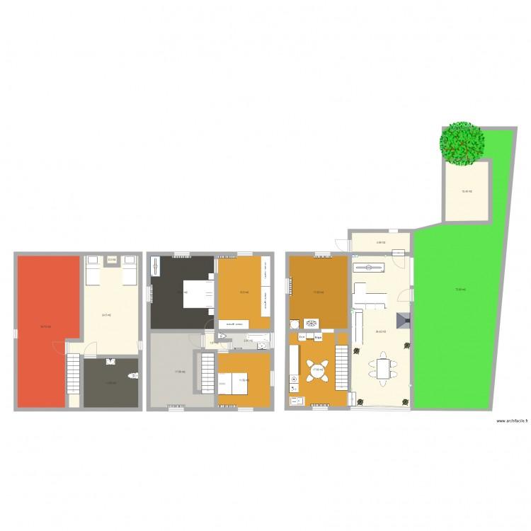 Maison plan 16 pi ces 300 m2 dessin par swan1976 for Plan maison 300m2