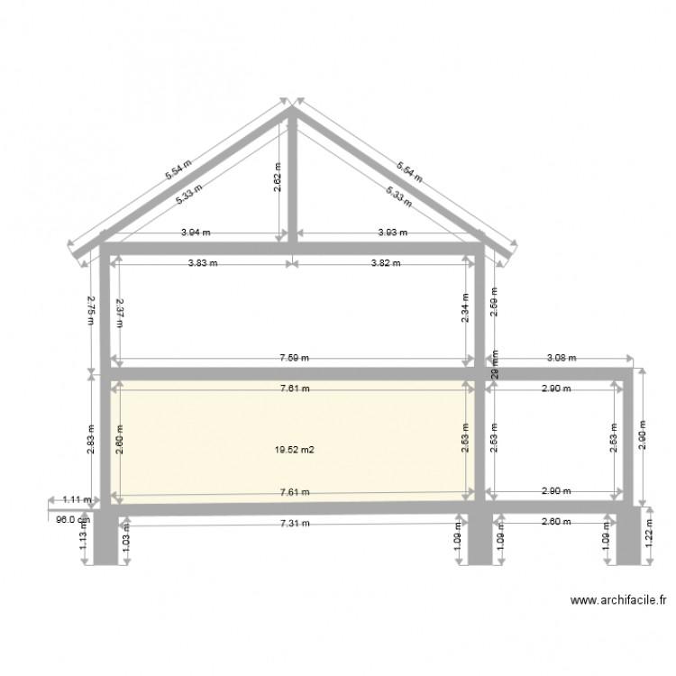 Top maison garages avancs coupe latrale plan de pice et m for Archifacile mac