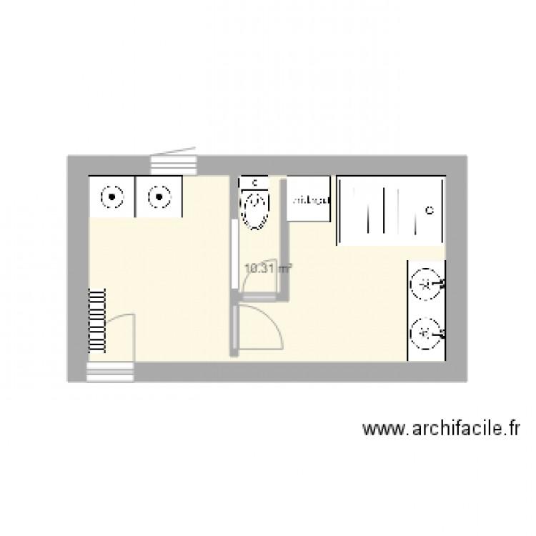 Salle De Bain Plan 1 Pi Ce 10 M2 Dessin Par Ninimojito