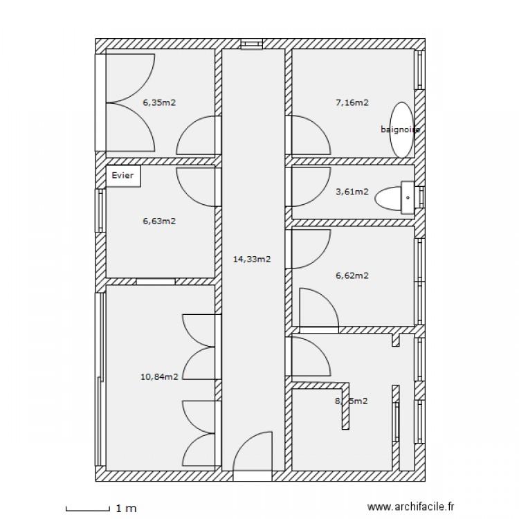 Maison luxueuse plan 8 pi ces 64 m2 dessin par mimif02 for Petite maison luxueuse