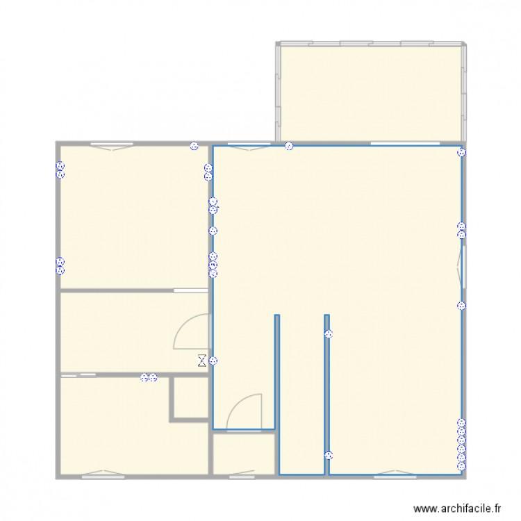 Elec maison plan 7 pi ces 76 m2 dessin par pena29830 - Consommation electrique moyenne maison 140 m2 ...