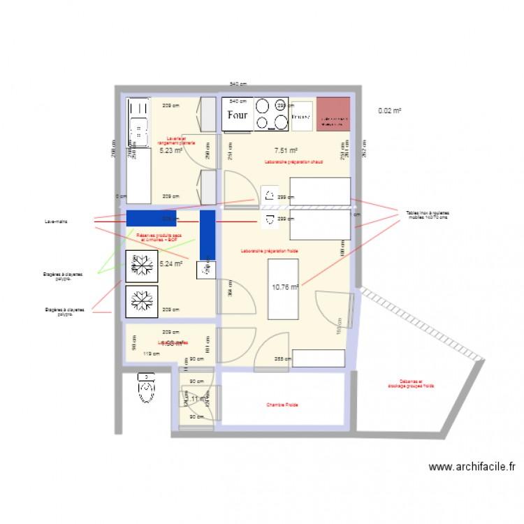 Poissonnerie ludo2 b thune juillet 2017 plan 7 pi ces 32 m2 dessin par nordcol59 - Bethune 14 juillet 2017 ...
