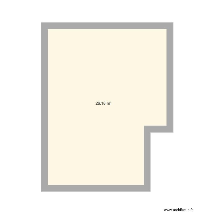 Salon appart plan 1 pi ce 26 m2 dessin par clemencebrd for Appart maison a louer