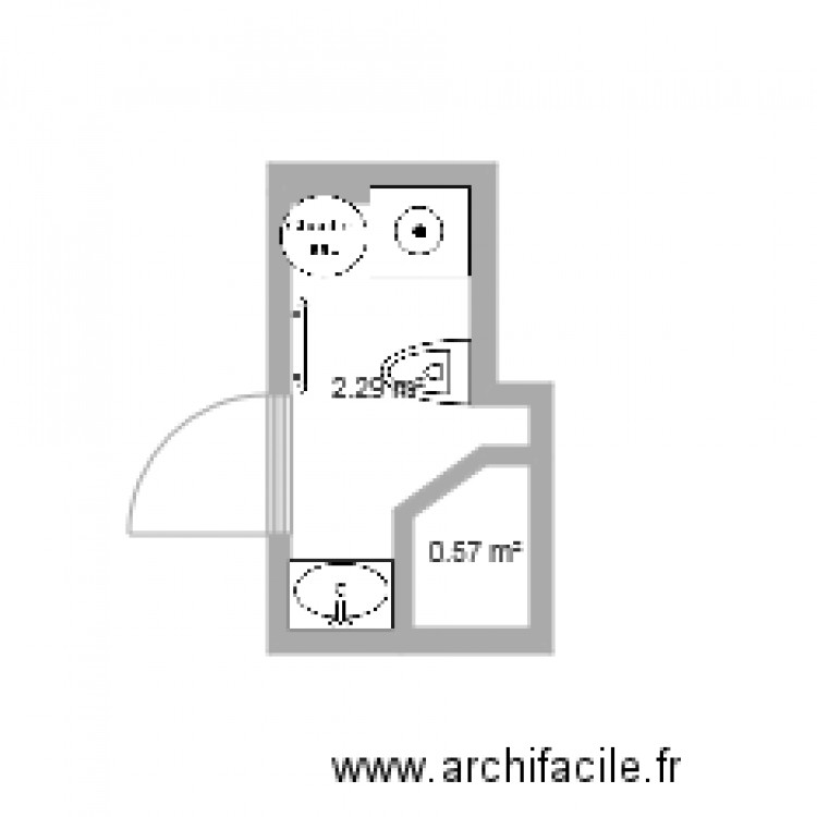 sdb 2 plan 2 pi ces 3 m2 dessin par polocisson. Black Bedroom Furniture Sets. Home Design Ideas