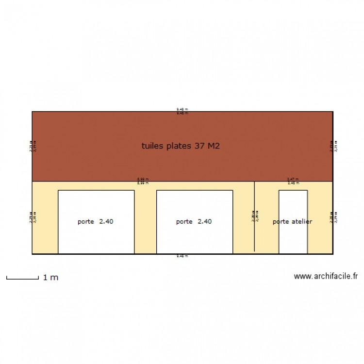 garage facade plan 2 pi ces 42 m2 dessin par demanche. Black Bedroom Furniture Sets. Home Design Ideas