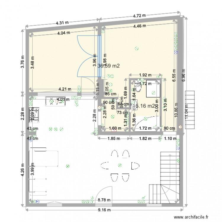 elec bas test1 plan 2 pi ces 42 m2 dessin par djoulii. Black Bedroom Furniture Sets. Home Design Ideas