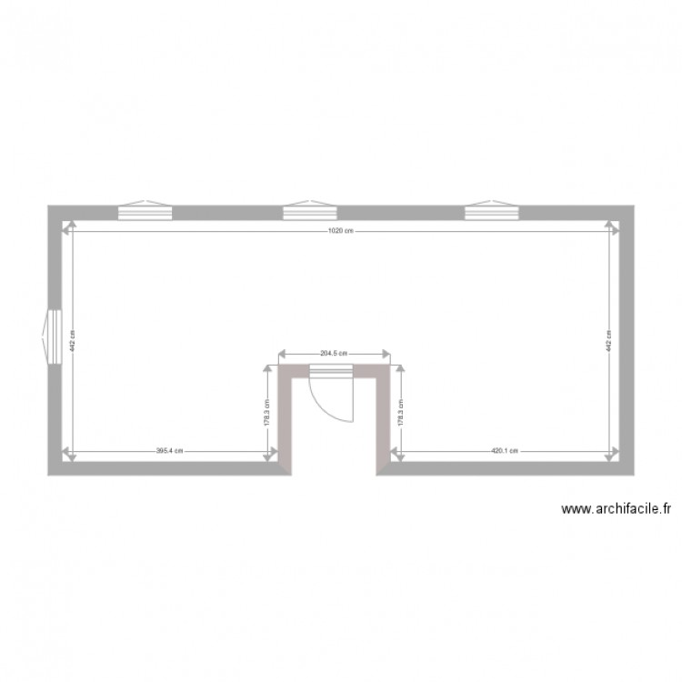 suite parentale plan 1 pi ce 41 m2 dessin par csantoine. Black Bedroom Furniture Sets. Home Design Ideas