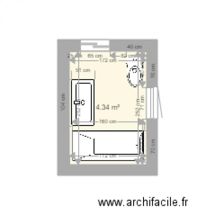 Salle de bain plan 1 pi ce 4 m2 dessin par licorne86 for Salle de bain 4 m2
