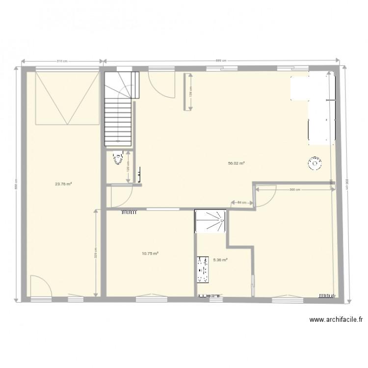 essai de dessin le rheu b plan 4 pi ces 96 m2 dessin. Black Bedroom Furniture Sets. Home Design Ideas