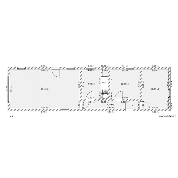Maison mobile plan 7 pi ces 77 m2 dessin par cresus for Maison mobile neuve