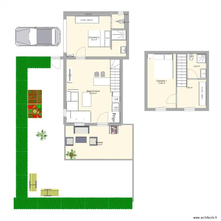 maison geo plan lectricit plan 10 pi ces 78 m2 dessin par geoffreylepinette. Black Bedroom Furniture Sets. Home Design Ideas