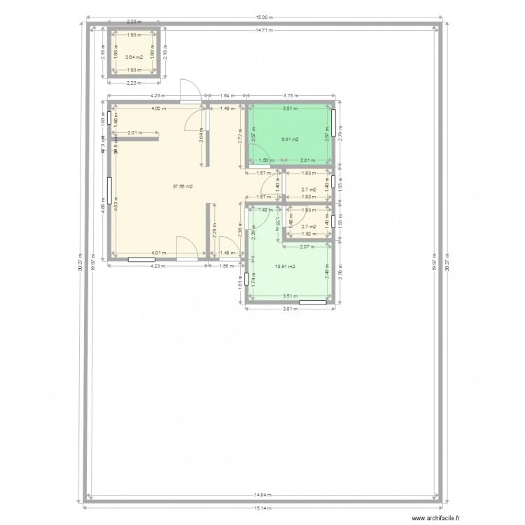 plan f3 gaz plan 6 pi ces 67 m2 dessin par gaoussou01. Black Bedroom Furniture Sets. Home Design Ideas