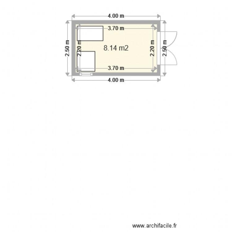Abri de jardin plan 1 pi ce 8 m2 dessin par nicolasriveault - Abri jardin grande taille ...