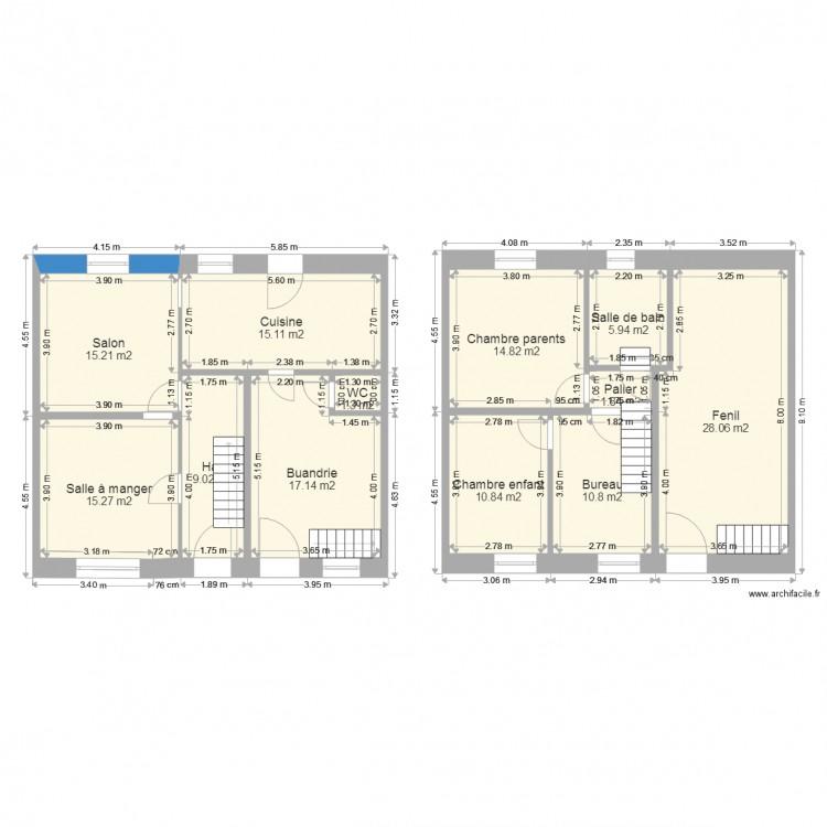 Plan maison av r novation plan 12 pi ces 145 m2 dessin for Modifier plan maison