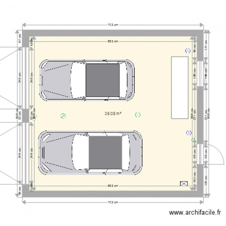 garage 2 voitures 2pla plan 1 pi ce 39 m2 dessin par jeremy27240. Black Bedroom Furniture Sets. Home Design Ideas