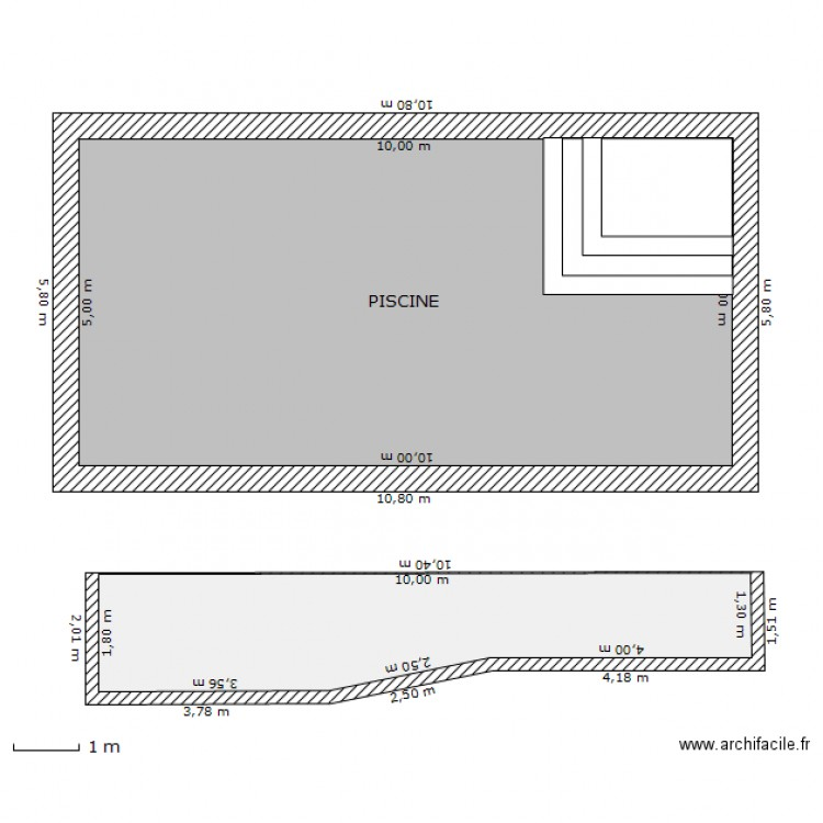 Exemple plan de masse pour piscine for Plan piscine