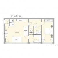 plan maison et appartement de 8 pi ces de 56 60 m2. Black Bedroom Furniture Sets. Home Design Ideas