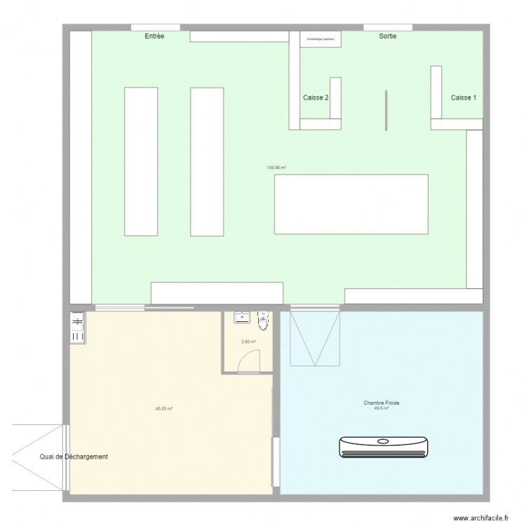 maubeuge plan 4 pi ces 249 m2 dessin par teldam. Black Bedroom Furniture Sets. Home Design Ideas
