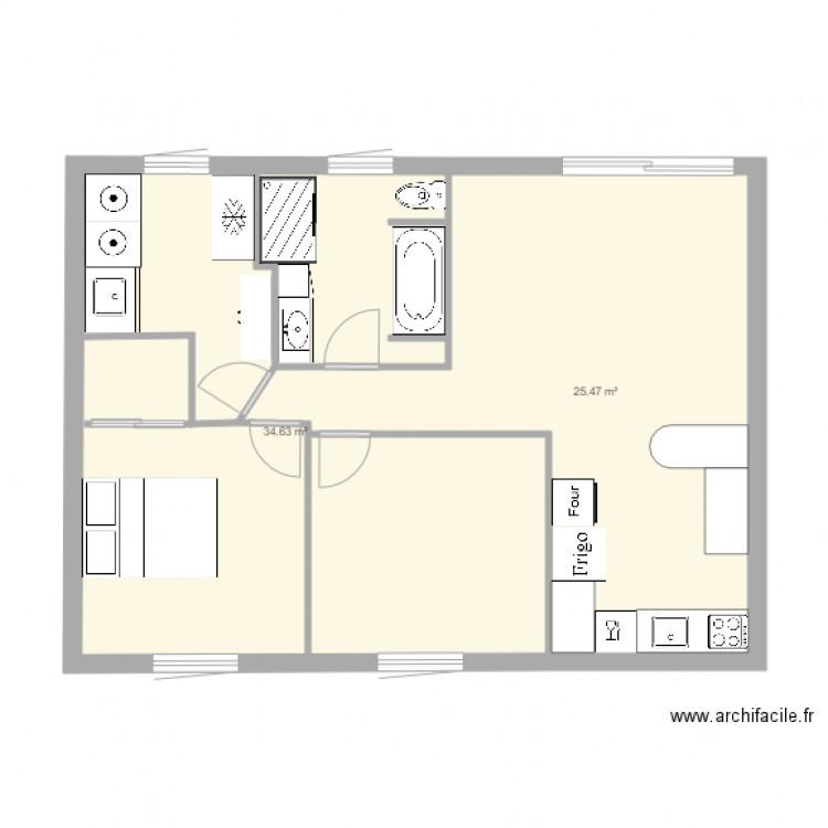 buanderie et salle de bain plan de 2 pices et 60 m2
