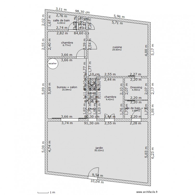Ma maison jardin plan 12 pi ces 135 m2 dessin par mixue for Dessine ma maison gratuitement