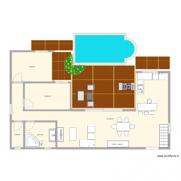 Ma maison 2 plan 5 pi ces 81 m2 dessin par gilasse for Dessine ma maison gratuitement