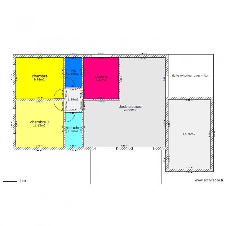 Maison type 1 plan 8 pi ces 80 m2 dessin par pierre jacques for Plan maison 80 m2