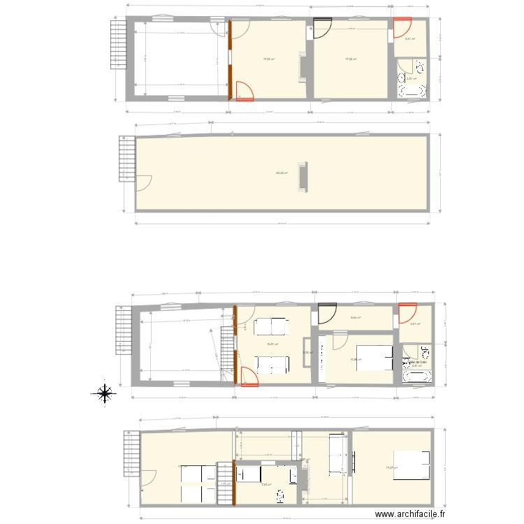 Conteville plan 12 pi ces 120 m2 dessin par nicolas - Plan appartement 120 m2 ...
