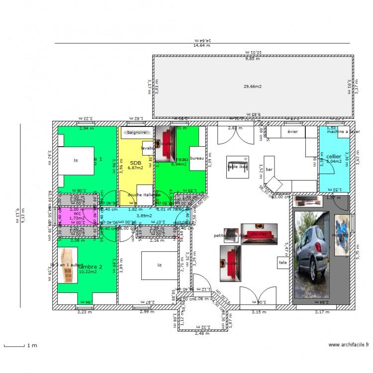Maison vestale 103 m2 invers porche 2 plan 13 pi ces 96 for Maison vestale