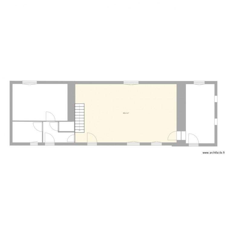 maison vide plan 1 pi ce 48 m2 dessin par blago. Black Bedroom Furniture Sets. Home Design Ideas
