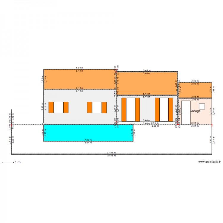 Plan de coupe piscine maison plan 7 pi ces 78 m2 dessin for Plan de coupe de maison