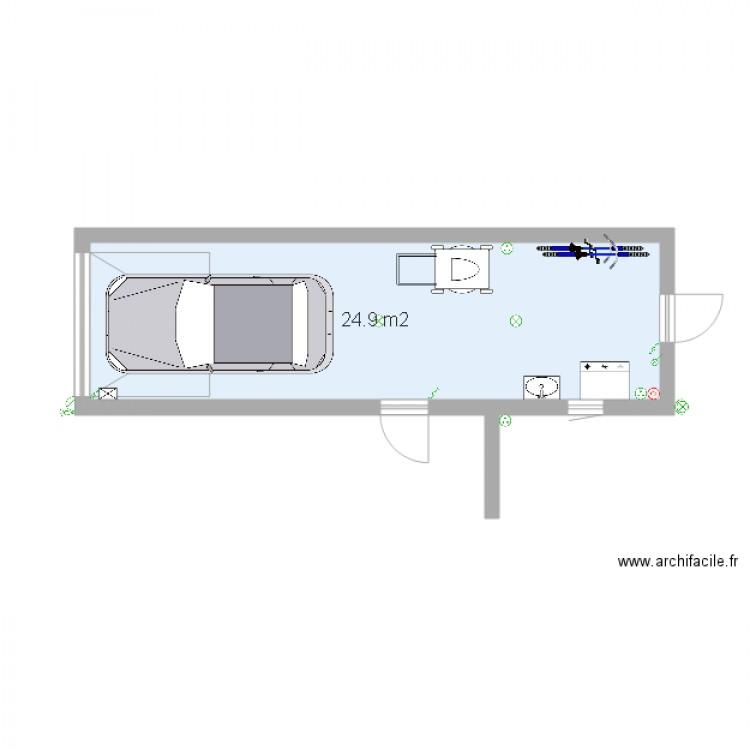 garage plan 1 pi ce 25 m2 dessin par juliendup. Black Bedroom Furniture Sets. Home Design Ideas