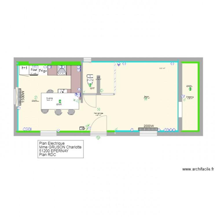 Plan gruson epernay rdc plan 02 plan 14 pi ces 48 m2 for Plan epernay