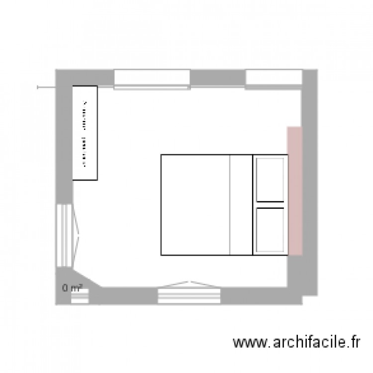 plan chambre coucher plan 1 pi ce dessin par maxoulou28. Black Bedroom Furniture Sets. Home Design Ideas