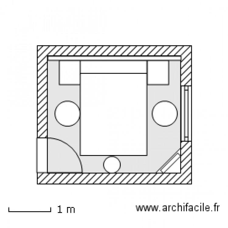 Chambre jg t3 lit 140 x 190 et pont de lit but tatiana v 23 f v 2012 plan 1 pi ce 9 m2 dessin - Pont de lit 140 ...