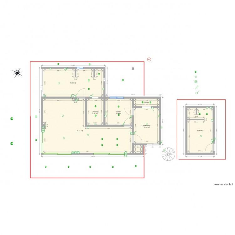 maison belv d re r novation interrupteurs plan 8 pi ces 98 m2 dessin par maud. Black Bedroom Furniture Sets. Home Design Ideas
